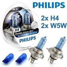 2 AMPOULE PHILIPS H4 ULTIMATE XENON EFFECT BLUEVISION ULTRA + 2 W5W PHILIPS
