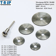 TASP 6PC Dremel HSS Mini Circular Saw Blades Cutting Disc for Wood Aluminum