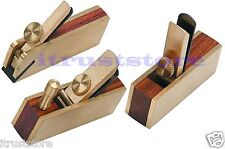 3 PC SMALL MINI MINIATURE SIZE WOOD HAND THUMB BLOCK PLANE PLANER PLANING TOOL