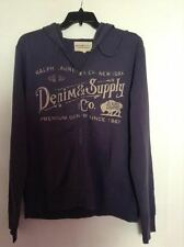 DENIM AND SUPPLY GRAPHIC MEN HOODIE VITAGE NAVY SIZE M 100% COTTON
