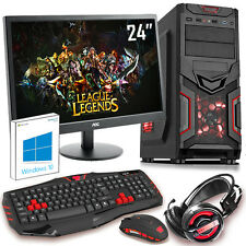 "Ultra Rápida 4.20 Ghz Quad Core Amd 24 ""Computadora Para Juegos Pc De 16 Gb 1 Tb Rd"