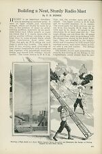 1925 Magazine Article How to Build Your Own Radio Antenna Tower Aerial