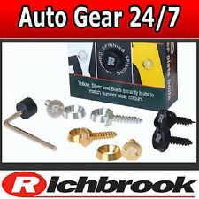 Richbrook Anti Theft Spinning Car Bike Van 4x4 Number Plate Screws Bolts