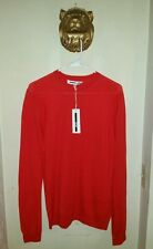 $250.00 McQ Alexander McQueen Men's Red Wool Knit Pullover  Size Small