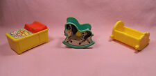 Vintage Fisher Price 1972 Nursery Rocking Horse Cradle Changing Table   #FPV10