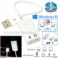 USB 2.0 Virtual 7.1 Channel Audio Sound Card Adapter 3D for PC XP Windows 7 Mac