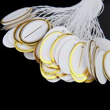 500Pcs Oval Blank strung string Tie Jewelry Display Merchandise Label Price tags