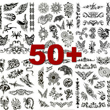 6 Sheets Party Pack of Temporary Tattoo Black Butterfly Dragon Tiger Unisex
