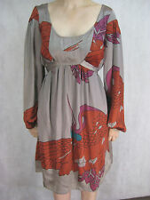 Antik Batik Size M L 12 14 Silver and Red Semi-Formal Dress