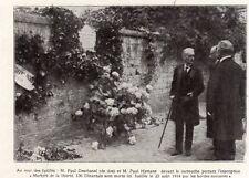 DINANT MUR DES FUSILLES DESCHANEL HYMANS BELGIQUE BELGIE IMAGE 1919 PRINT