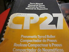 Dynapac CP27 Pneumatic Tyred Roller Parts Manual