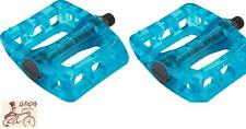 """ODYSSEY TWISTED PC CLEAR BLUEBERRY 9/16"""" 3-PIECE CRANK BMX BICYCLE PEDALS"""