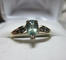14kt Super Rare .67ct Natural Alexandrite & .16ct Baguette Diamond Ring