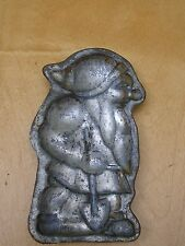 VINTAGE  SINGLE PIECE DWARF  METAL CHOCOLATE MOLD 3.5 INCHES HIGH