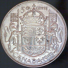 1953 Canadian 50 Cent Coin - NSF Small Date - 11.66 Grams 80% Silver #1157