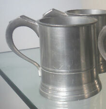 GEORGE VI PEWTER HALF PINT TANKARD-EXCISE MARK-1947-UPTO FOUR AVAILABLE