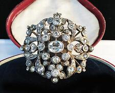 A Rare Georgian 'black dot' White Paste foil backed Silver Brooch.  Circa 1790