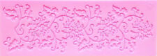 Flowers & Leaves Lace Silicone Mold for Fondant Gum Paste, Chocolate, Crafts NEW