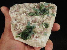 Three Minerals! ALBITE Lepidolite and TOURMALINE in a Big CLUSTER Brazil 727gr