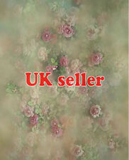 ROSE FLOWER GREEN WALLPAPER BACKDROP BACKGROUND VINYL PHOTO PROP 5X7FT 150x220CM