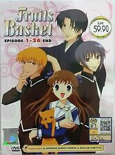 DVD Anime Fruits Basket Episode 1 - 26 End English Audio ALL Region NTSC