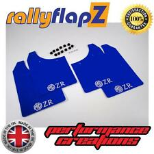 Rally Mudflaps to fit MG ZR Rover Mud Flaps rallyflapZ Blue Logo Silver 3mm PVC