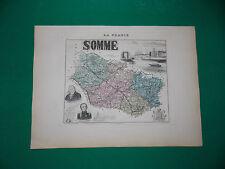 SOMME CARTE ATLAS MIGEON Edition 1885, Carte + fiche descriptive