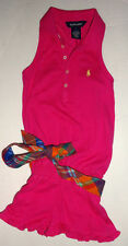 NEW RALPH LAUREN HOT PINK ROMPER DRESS SIZE 5 YEARS AUTHENTIC