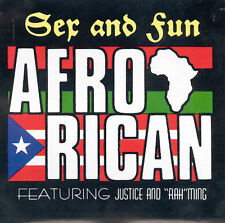 "Afro Rican ""Sex & Fun"" Feat. Justice & ""Rah"" Ming CD Hip Hop Rap & Soul Like New"