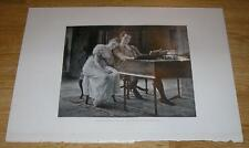 ANTIQUE BEAUTIFUL YOUNG VICTORIAN WOMAN MAN PIANO SONG WITHOUT WORDS PRINT