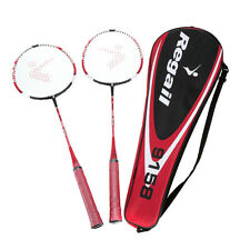 2Pcs Training Badminton Racket Racquet with Carry Bag Sport Equipment Durable