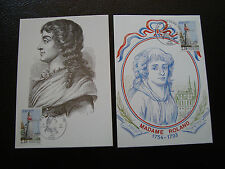 FRANCE - 2 cartes 1er jour 24/6/1989 (madame roland) (cy37) french