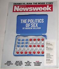 Newsweek February 20, 2012: Politics of Sex by Andrew Sullivan. Obama vs Iran.