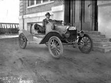 Photo. ca 1917. Man in 1916 Ford Model T Speedster Automobile