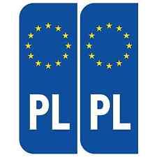 Poland Euro PL Badge Car Number Plate Self-adhesive Vinyl Stickers European deca