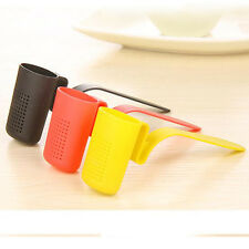 New Tea Leaf Infuser Strainer Bag Strainer Filter Diffusers Random Color