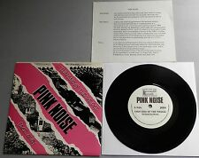 "Pink Noise - Thin End Of The Wedge UK 1987 Reasonable 7"" P/S with Insert"