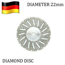Set of 3 Diamond Discs 22mm + Mandrel - Flexible Dental Disk Double Sided