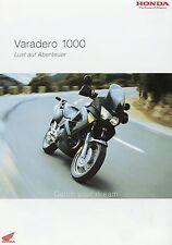 Prospekt 2004 Honda Varadero 1000 Motorradprospekt 3 04 brochure Motorrad Japan