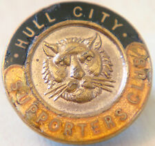 HULL CITY Vintage SUPPORTERS CLUB badge Maker W.O LEWIS Button hole 23mm x 23mm