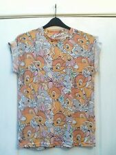 DISNEY BAMBI THUMPER TAN GREY MULTI PICTURE PRINT BOYFRIEND FIT T-SHIRT TOP - 12