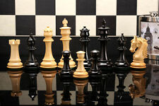 New Beautyful Triple Weighted Staunton Chess Set Ebony Wood FREE P&P