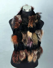 Fashion Women Real Fox Fur Long Scarf Shawl Cape Collar Winter Stole Scarves