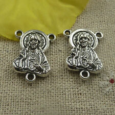 Free Ship 70 pieces tibetan silver Jesus connector 20x15x4mm #4462