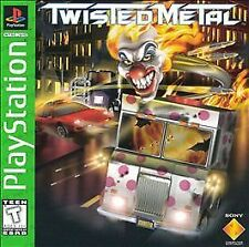 Twisted Metal w/MANUAL GREAT Sony Playstation PS1 LONG BOX