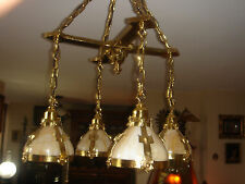 ARTS &CRAFTS MISSION HANDEL STICKLEY ERA FOUR LIGHTS HAMMERED BRONZE CHANDELIER