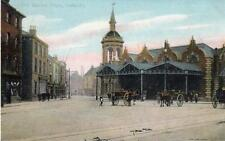 Old Market Place Grimsby pc used 1908 Boots