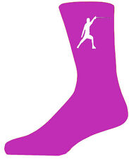 High Quality Hot Pink Socks With a Fencer, Lovely Birthday Gift