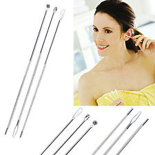 3Pcs Appealing Steel Ear Pick Set Wax Curette Remover Double-End Ear Scoop Tool