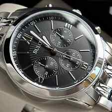 RRP £229 BULOVA MENS 40MM CHRONOGRAPH WATCH STAINLESS STEEL BLACK DIAL NEW